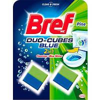 Таблетки для сливного бачка Bref Duo-Cubes Хвойная свежесть 100 г