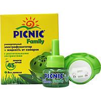 Фумигатор Picnic Family с жидкостью против комаров 45 ночей