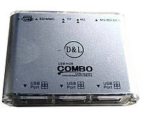 Картридер + хаб KR-CB004 (COMBO)