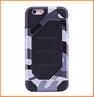 Бронированный противоударный TPU+PC чехол MOTOMO (Military) для IPhone 7/8 Сamouflage/Grey