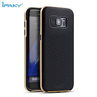 TPU Силикон iPaky TPU+PC для Samsung G930 / Galaxy S7 Black / Gold (черный / золотой)