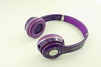 Наушники беспроводные bluetooth S460 фиолетовые