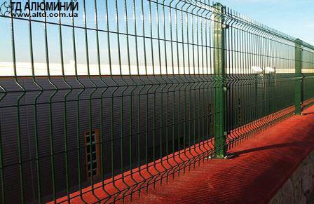 Забор с полимерным покрытием 1,26х2,5 СТАНДАРТ