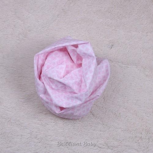"""Простынка детская на резинке """"Принт"""" (розовая)"""
