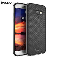TPU Силикон iPaky TPU+PC для Samsung A320 / Galaxy A3 (2017) Black / Gray (черный / серый)