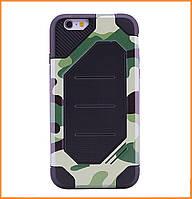 Бронированный противоударный TPU+PC чехол MOTOMO (Military) для IPhone 7/8 Сamouflage/Green