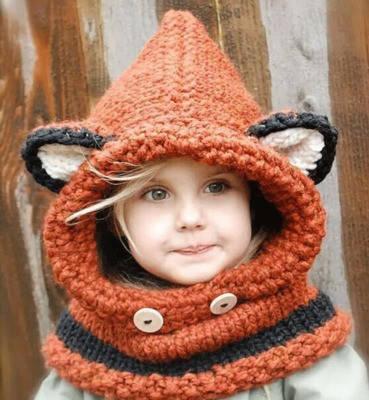 Шапка детская объёмная с ушами, фото 2
