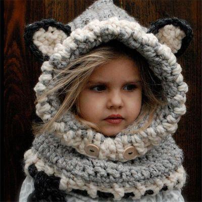 Шапка детская объёмная с ушами