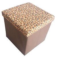 Короб складной Handy Home Коричневые клеточки 40х40х40 см