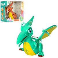 Динозавр 2807 (24шт) 27см,с крыльями,ездит,свет,муз,на бат-ке,2цвета,в кор-ке, 27-24-14,5см