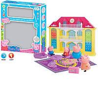 Домик Свинка Пеппа Peppa Pig 559, горят фонарики, звонок в двер Игрушечные домики, домики для кукол, для детей