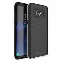 TPU Силикон iPaky TPU+PC для Samsung G955 / Galaxy S8 Plus Black / Gray (черный / серый)
