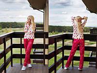 Яркая хлопковая пижама со штанами r-720012