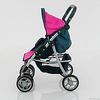 Игрушечная летняя коляска для кукол 9352, корзина для покупок, складная ручка, ремень, 6ти колесная, коляски