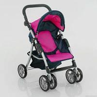 Іграшкова літня коляска для ляльок 9352, кошик для покупок, складана ручка, ремінь, 6ти колісна, коляски, фото 1