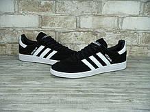 Мужские кроссовки AD Spezial Original Black Suede White, А-д. ТОП Реплика ААА класса., фото 3