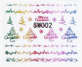 Наклейки 3Д для ногтей 002 Новогодний дизайн