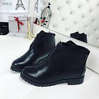 40 размер! Женские ботиночки демисезонные Key экокожа на молнии подкладка флис
