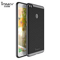 TPU Силикон iPaky TPU+PC для Xiaomi Mi Max 2 Black / Gray (черный / серый)