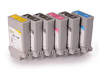 Набор совместимых картриджей Ocbestjet PFI-107 для Canon iPF670/770, CMYKMBk, 6x130 мл