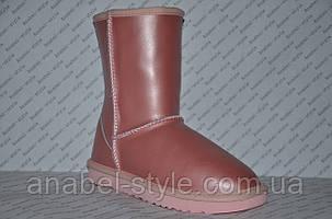 Уггі жіночі натуральна шкіра UGG ніжно-рожеві Код 1016, фото 2