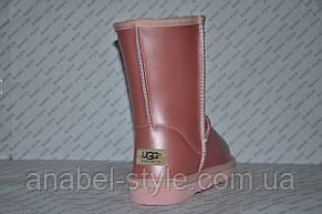 Уггі жіночі натуральна шкіра UGG ніжно-рожеві Код 1016, фото 3