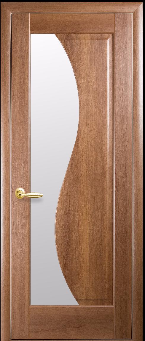 Межкомнатные двери Новый Стиль Эскада Стекло сатин Золотая ольха