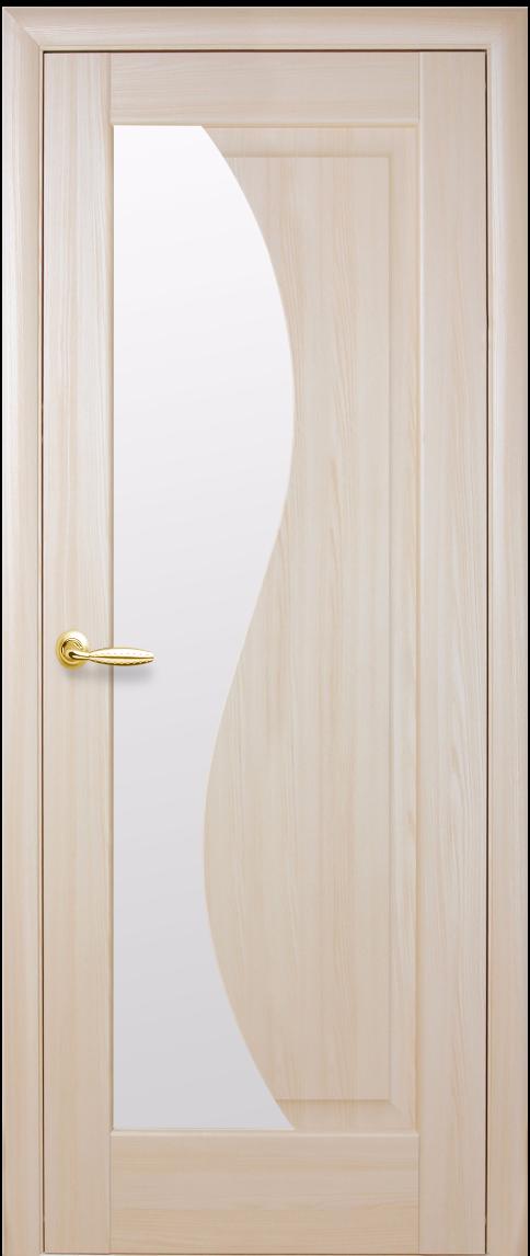 Межкомнатные двери Новый Стиль Эскада Стекло сатин Ясень