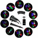 Лазерный/ LED проектор USA 2в1 40 узоров, фото 4