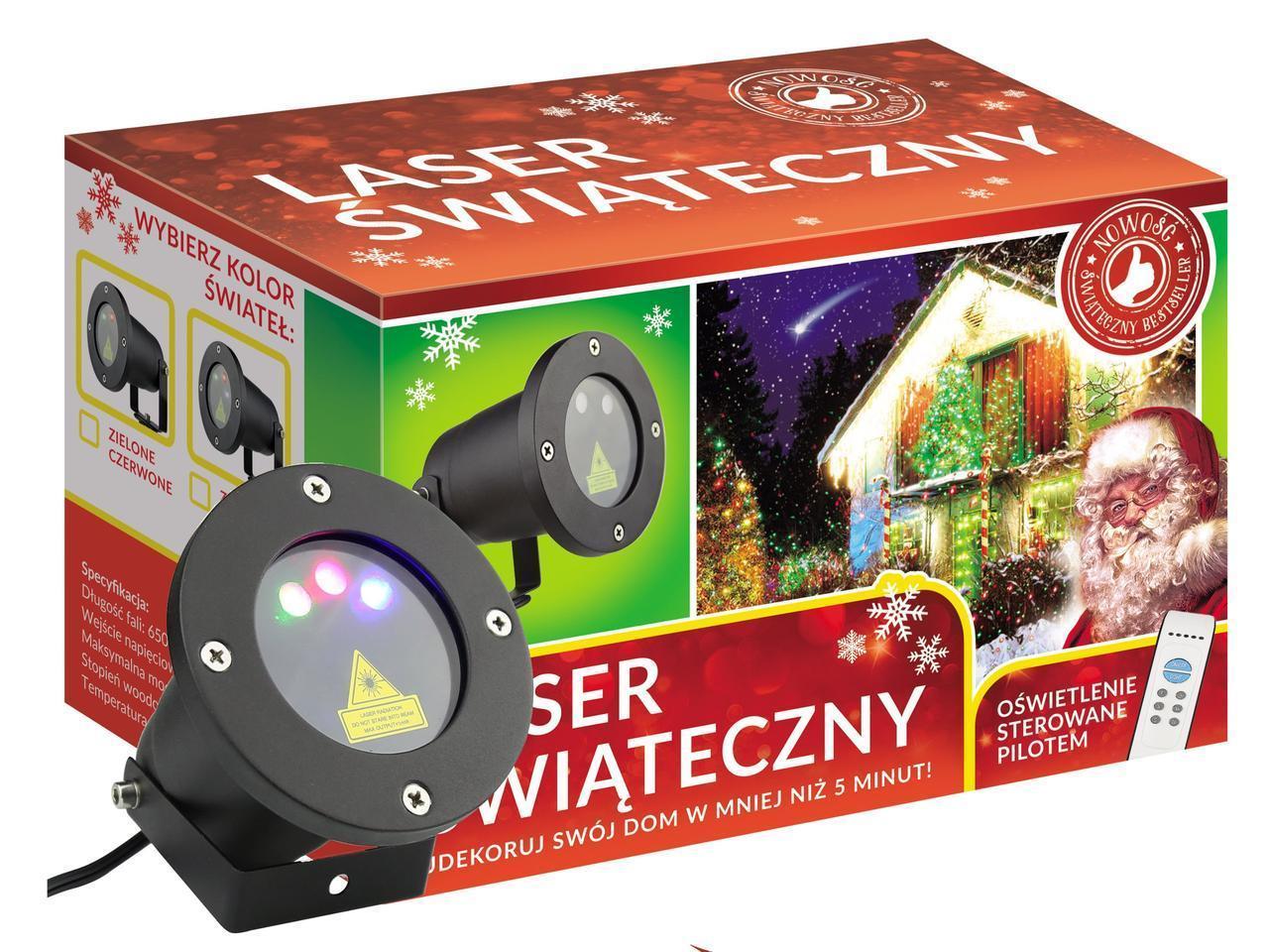 Лазерный проектор RGB Разноцветные точки  Три цвета + пульт + диск (RGB1010)