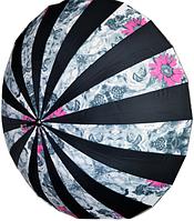 Женский зонт цветной (Трость, 24 спицы)