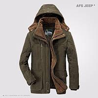 Зимняя куртка, парка,пуховик на овчине Jeep .Натуральный пух.