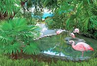 """Фотообои """"Розовые фламинго 140х196 (8Л)"""" Ника"""