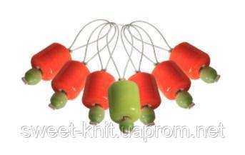 Маркеры петель (7 шт) ZOONI Orange Lily KnitPro