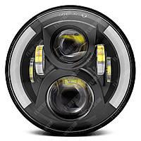FB-6081 Светодиодные LED фары 7 дюймов (Нива, УАЗ 469, ГАЗ 24, ВАЗ 2101, Хаммер, FJ Cruiser, w463, мотоцикл)