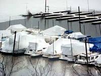 Зимнее хранение яхт на воде