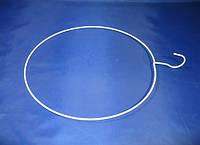 Белый металлический круг вешалка диаметр 35см для продажи трусов