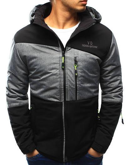 Стильная мужская куртка с капюшоном №2 Чёрный