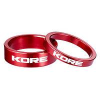 Проставочные кольца KORE, 10мм, красный