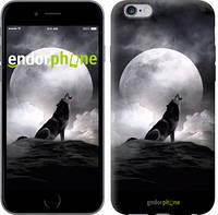 "Чехол на iPhone 6 Plus Воющий волк ""934c-48-532"""