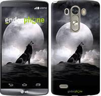 """Чехол на LG G3 dual D856 Воющий волк """"934c-56-532"""""""