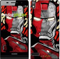"Чехол на Huawei Ascend P6 Iron Man ""2764c-39-532"""