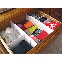 Универсальный органайзер для хранения вещей Expandable Dresser Drawer Dividers