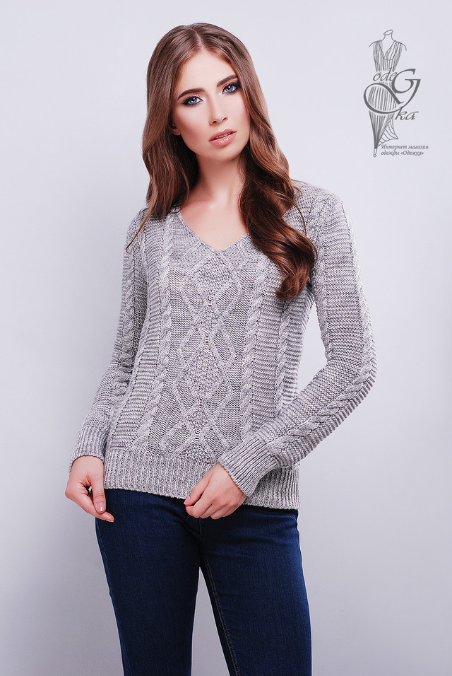 Цвет серый Красивых женских свитеров Конти