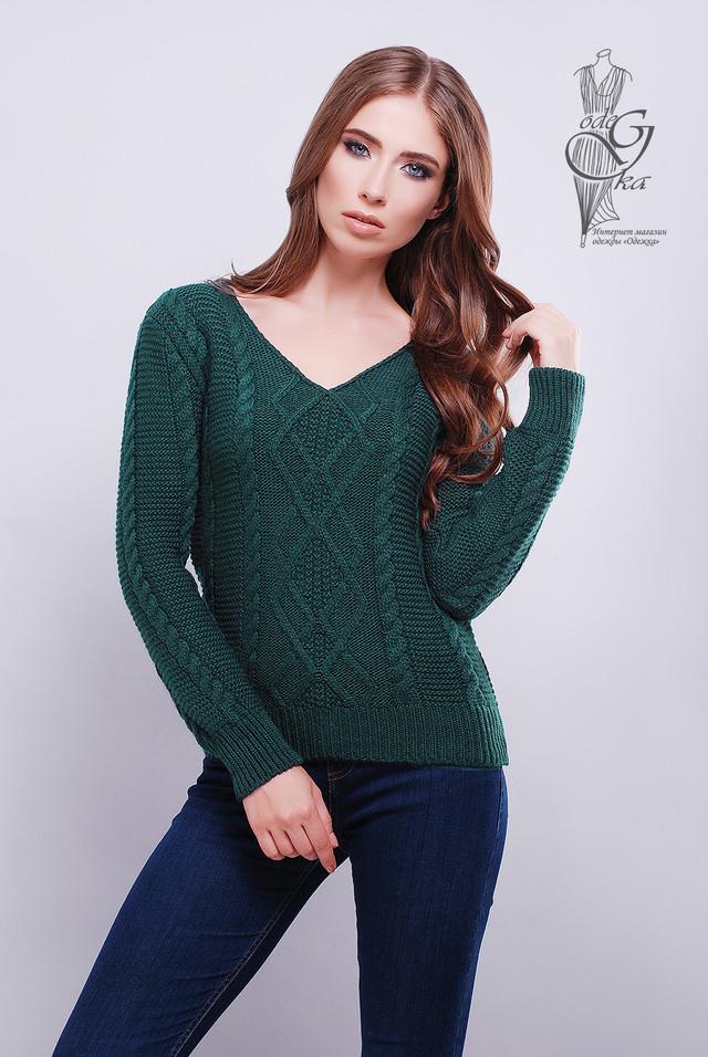 Зеленый цвет Красивых женских свитераов Конти