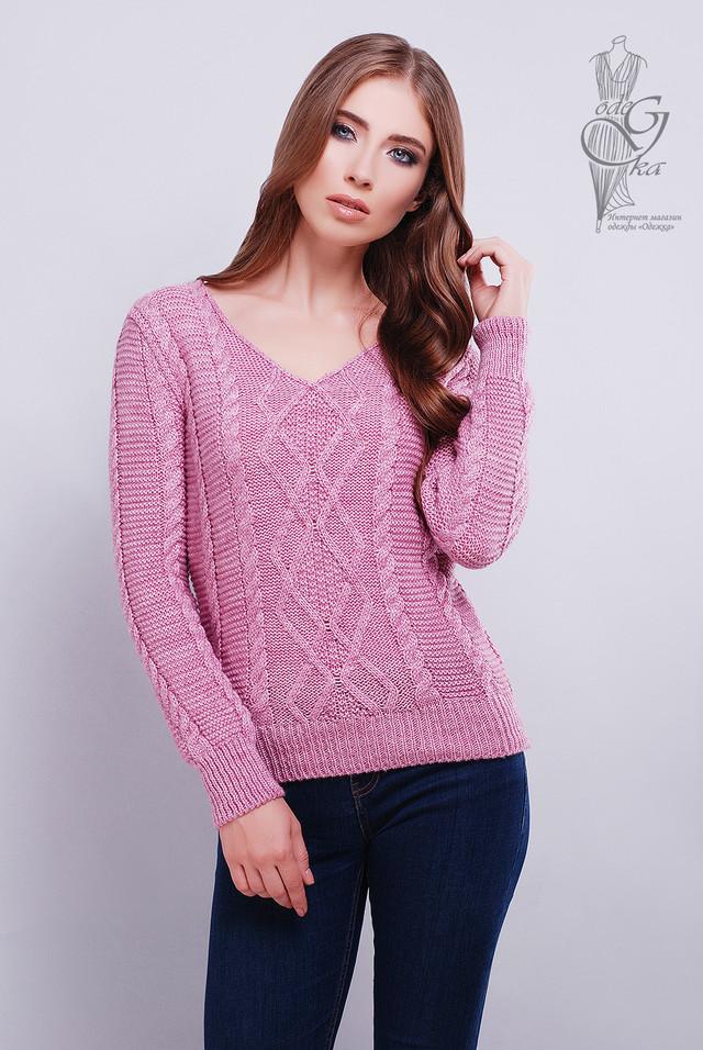 Лиловый цвет Красивых женских свитеров Конти