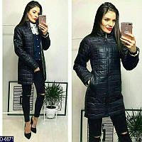 ddea5d63f06 Стильная женская прямая куртка плащевка на змейке черного цвета. Арт - 18182