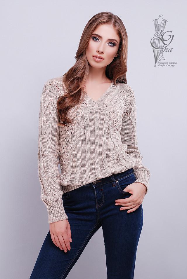 Цвет какао Красивых женских свитеров Бриз
