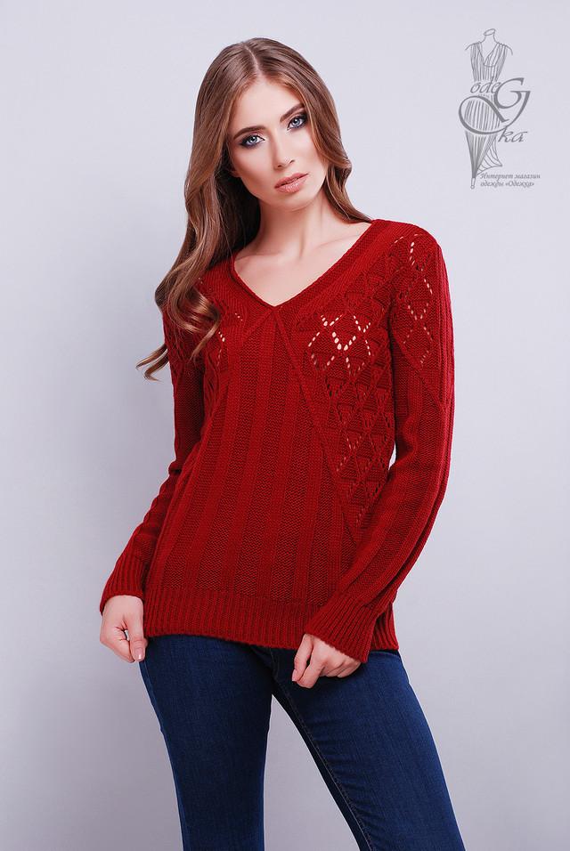 Бордовый цвет Красивых женских свитеров Бриз