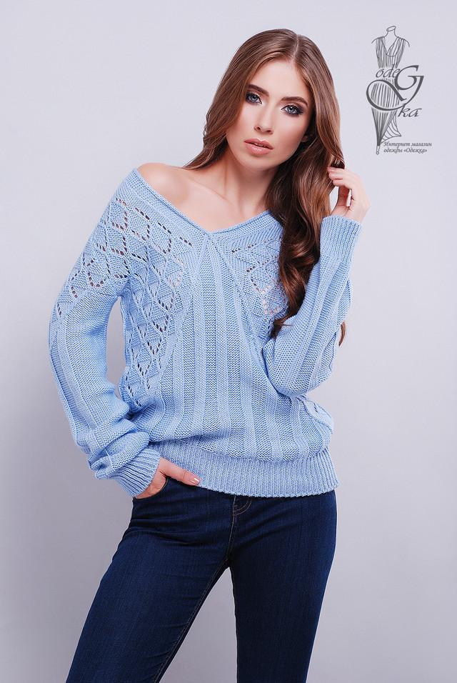 Голубой цвет Красивых женских свитеров Бриз